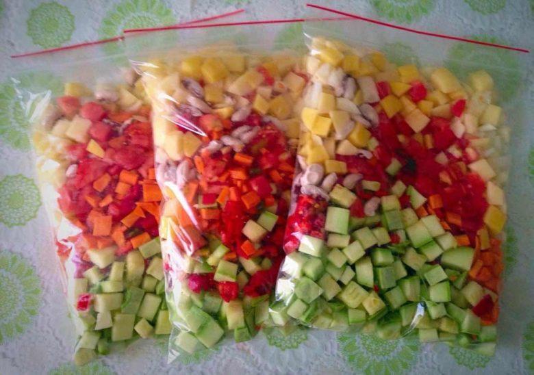 Овощные смеси с кабачками