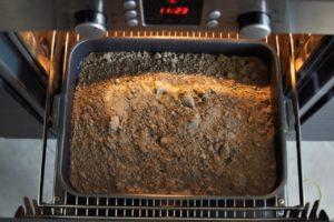 Прокаливание почвы в печи