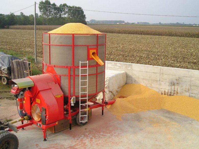 Мобильная зерносушилка