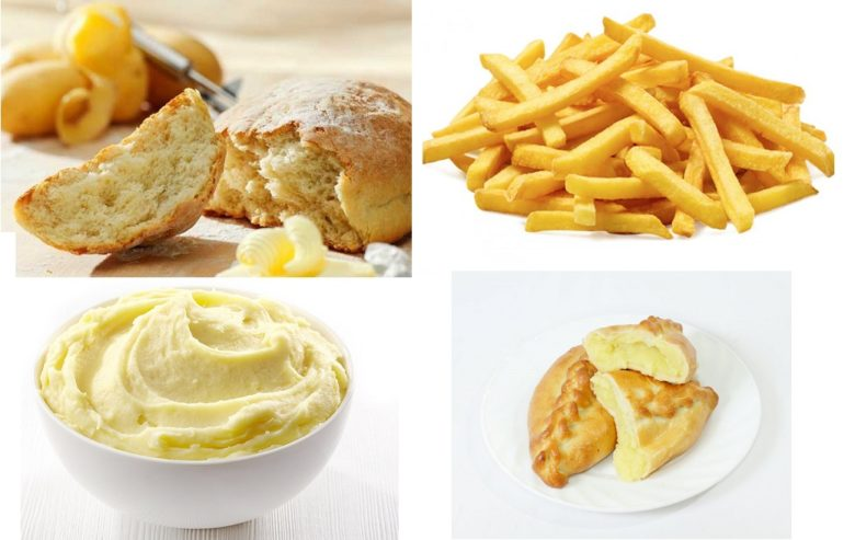 Разнообразные блюда из картофеля