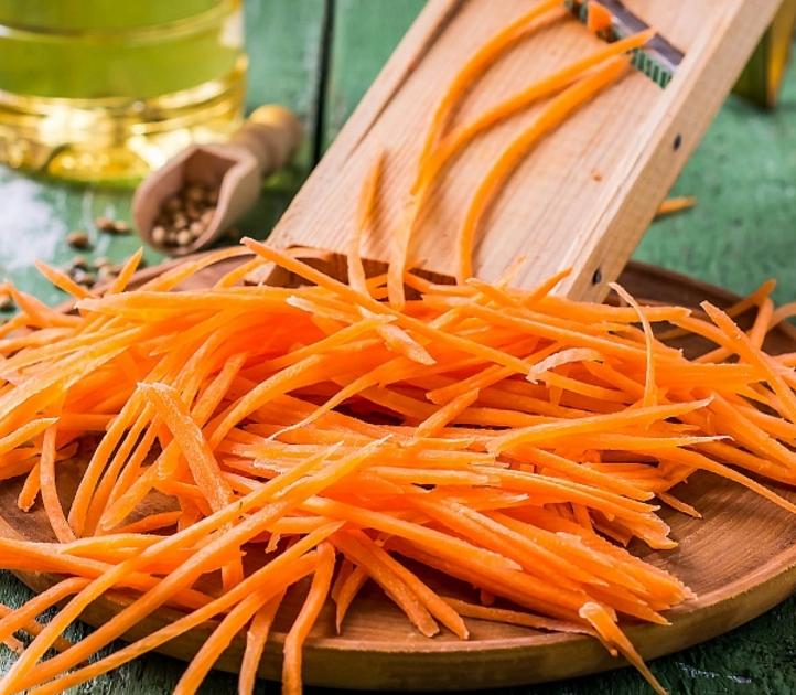 Нарезка моркови по-корейски