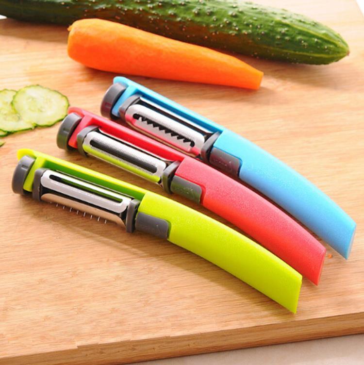 Нож 3 в 1 для чистки и нарезки овощей двумя способами