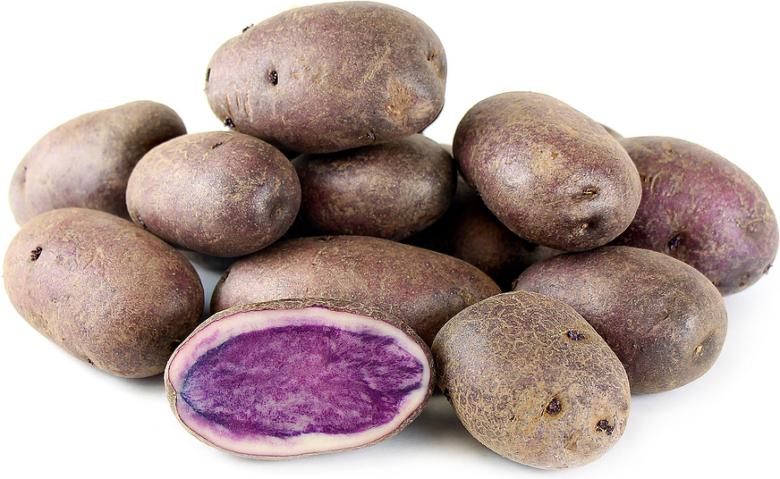 Клубни фиолетовой картошки